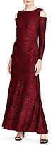 Lauren Ralph Lauren Burnout Velvet Gown