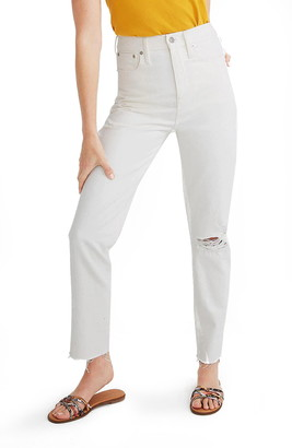 Madewell Ripped Edition High Waist Mom Jeans