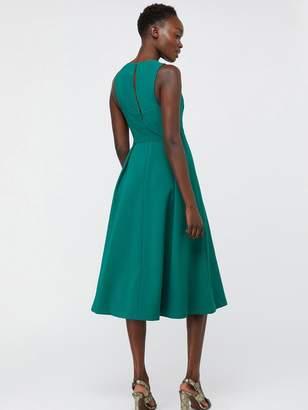 Monsoon Penelope Pleated Midi Dress - Green