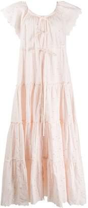Innika Choo tiered cotton maxi dress