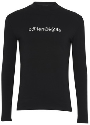 Balenciaga Long stretch top with logo