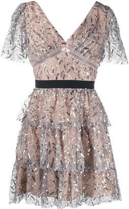 Self-Portrait Sequin-Embellished Dress
