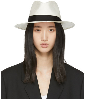 Rag & Bone White Straw Panama Hat