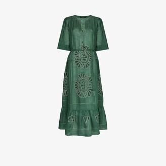 Vita Kin Camelia embroidered linen dress
