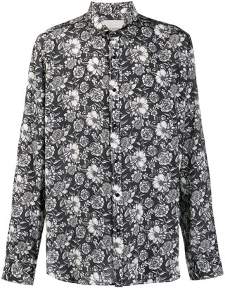 Laneus Floral Long-Sleeve Shirt