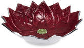 Julia Knight Poinsettia Serving Bowl - Pomegranate