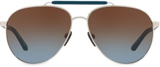 Burberry Eyewear Top Bar Pilot Sunglasses