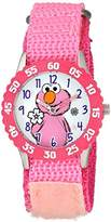 EWatchFactory Girl's 'Sesame Street' Quartz Stainless Steel and Nylon Watch, Color:Pink (Model: W003183)