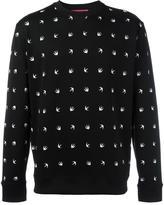McQ by Alexander McQueen swallow intarsia jumper - men - Polyamide/Spandex/Elastane - L