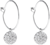 Accessorize Platinum Galaxy Pave Hoop Earrings