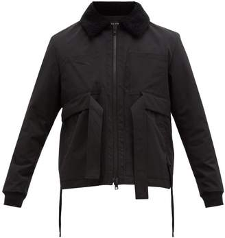 Craig Green Shearling Collar Cotton Shell Jacket - Mens - Black