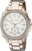 Vince Camuto Women's VC/5262WTRG Swarovski Crystal-Accented -Tone Bracelet Watch
