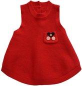 WEIXUAN Little Girls' Crew Neck Knit Sweater sundress,18-24M