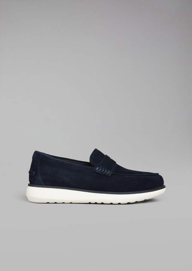 Giorgio Armani Suede Leather Loafers