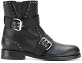 Jimmy Choo Youth biker boots - women - Leather/metal/rubber - 36