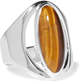 Pamela Love Monte silver tiger's eye ring