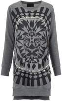 Andrea Bogosian embellished printed sweater dress