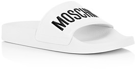 Moschino Women's Logo Pool Slides