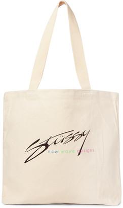 Stussy Logo-Print Cotton-Canvas Tote Bag