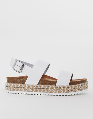 Aldo Ruryan leather espadrille sandals in white