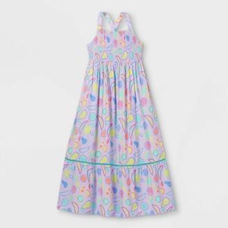 Cat & Jack Girls' Fruit Print Socked Woven axi Sleeveless Dress - Cat & JackTM Light