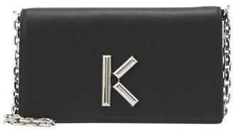 Kenzo K crossbody wallet with chain
