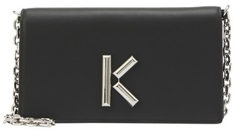 Kenzo K crossbody wallet with chain