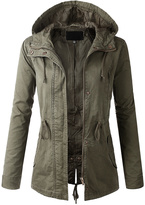 Ambiance Olive Hooded Anorak - Women & Plus