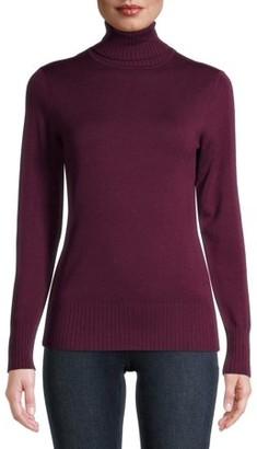 Time and Tru Women's Turtleneck Sweater