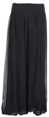 N A Collection Ladies Italian Lagenlook Quirky Layering Plain Silk Flap Waist Puffball Style Harem Trouser Leggings Joggers Pants Loose Baggy One Size Regular UK 8-16 (One Size: Regular