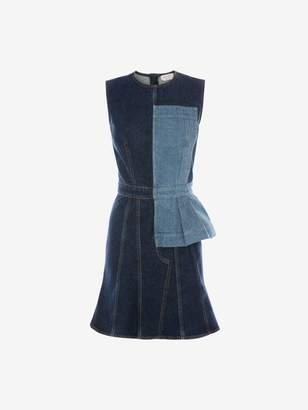 Alexander McQueen Pieced Denim Mini Dress