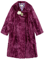 Gucci Fur coat with brooch
