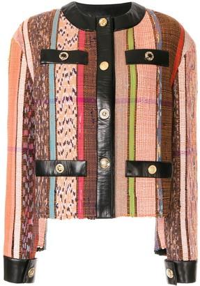 Litkovskaya Leather-Trimmed Tapestry Jacket