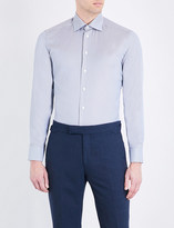 Eton Houndstooth slim-fit cotton shirt