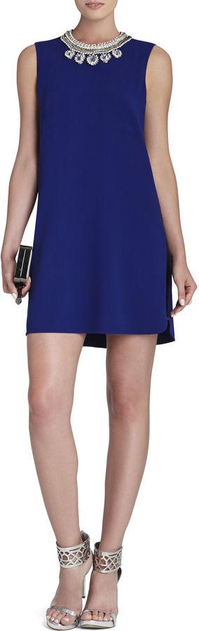 BCBGMAXAZRIA Onyx Beaded Side-Panel Dress