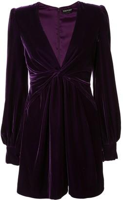Tom Ford Velvet Twisted Short Dress