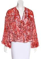 Alexis Long Sleeve Silk Top