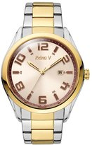 Silver & Gold Plated Stainless Steel Women's Wrist Watch With Beige & Index - Analog Display & Japanese Quartz Movement - Fresh Collection By Reina V
