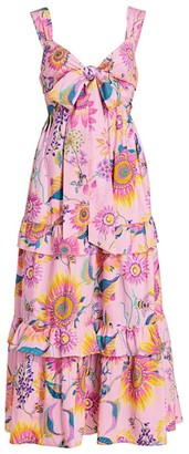 Banjanan Serafina Floral Cotton Maxi Dress