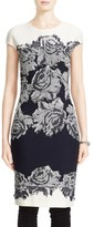 St. John Women's 'Nadia' Floral Knit Sheath Dress