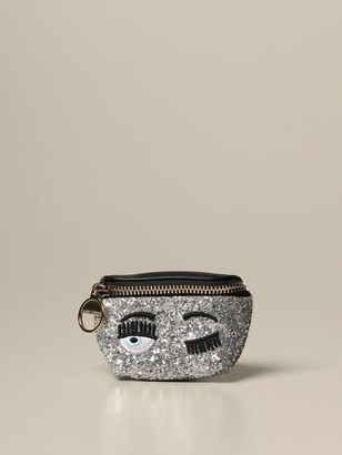 Chiara Ferragni Mini Bag Glitter Micro Belt Bag With Eyes Flirting Embroidery