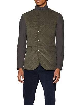 Hackett London Men's Quilted Cord BLZR Jacket,Medium
