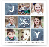 Minted Watercolor Joy Christmas Photo Cards