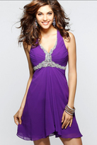 Faviana 7214 Ruched Halter A-line Dress