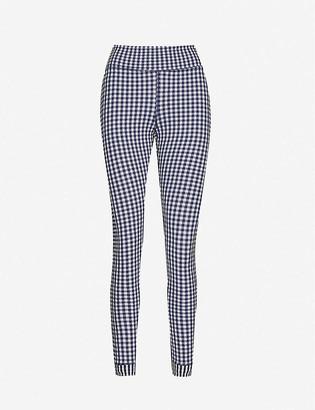 The Upside Masilda gingham-print mid-rise stretch-woven leggings