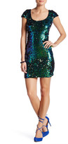 Dress the Population Gabriella Sequin Back Cutout Dress