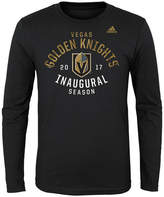 adidas Vegas Golden Knights Long Sleeve Inagural Season T-Shirt, Big Boys (8-20)