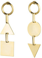 Eddie Borgo Mismatched Token Drop Earrings