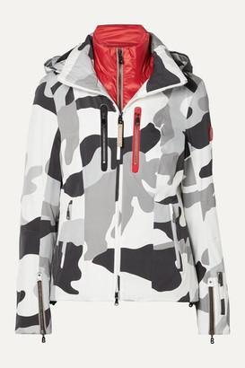 Bogner Tami Hooded Camouflage-print Ski Jacket - White