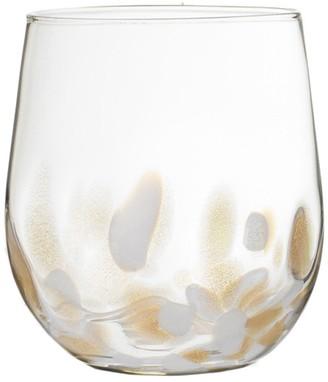Fitz & Floyd Simone Stemless Wine Set of 4 Elegant Lead-Free Matching Drinkware for Everyday Or Entertaining Stylish Modern Glasses-Gift for Wedding Birthday 15.5 oz
